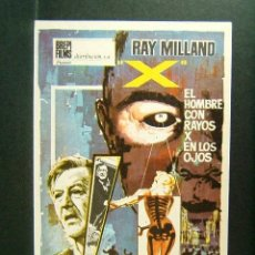 Cine: X-EL HOMBRE CON RAYOS X EN LOS OJOS-ROGER CORMAN-RAY MILLAND-DIANA VAN DER VLIS-JOHN HOYT-1965. . Lote 177648059