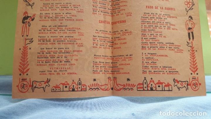 Cine: FOLLETO DE MANO DE CINE, 1945. CANTABLES DE ROUPA BRANCA (letra español/portugués) - Foto 2 - 177665073