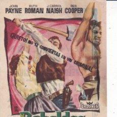 Folhetos de mão de filmes antigos de cinema: REBELDES EN LA CIUDAD . Lote 177704454