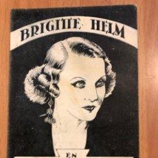 Cine: PROGRAMA TARJETA LA CONDESA DE MONTE CRISTO.BRIGITTE HELM.CON PUBLICIDAD TEATRO ALFAGEME 1932. Lote 177714887