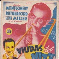Flyers Publicitaires de films Anciens: VIUDAS DEL JAZZ. Lote 177734322