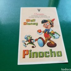 Cine: PROGRAMA DE CINE SIMPLE. PINOCHO. CENTRAL CINEMA DE ALICANTE. Lote 177737302