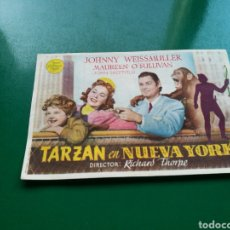 Cine: PROGRAMA DE CINE SIMPLE. TARZÁN EN NUEVA YORK. CINE MISTRAL. Lote 177737454