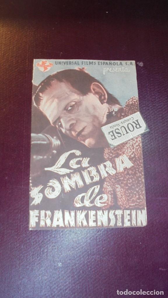 LA SOMBRA DE FRANKENSTEIN - 1944UNIVERSAL FILS ESPAÑOLA S.A., BASIL RATHBONE , BORIS KARLOFF BELA LU (Cine - Folletos de Mano - Terror)