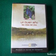 Foglietti di film di film antichi di cinema: UN BUEN AÑO - LAS VIDAS DEL VINO - DVD NATIONAL GEOGRAPHIC CHANNEL - PRECINTADO. Lote 177960775