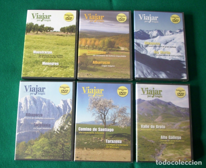 VIAJAR POR ARAGÓN - RTVA - DVD NÚMEROS 1, 3, 4,5, 6 Y 7 NÚMEROS 3 AL 7 PRECINTADOS (Cine - Folletos de Mano - Documentales)