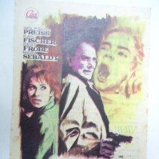 Cine: RAPTO SIN RESCATE SÁBADO 3 DE SEPTIEMBRE DE 1966 PUBLICIDAD CINE LLAGOSTERENSE PIE HIJO DE B, BAÑÓ B. Lote 178012279