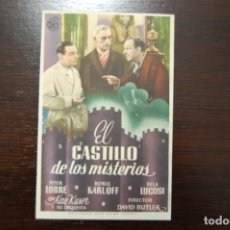 Cine: EL CASTILLO DE LOS MISTERIOS, - CINEMA CENTRAL - AÑO 1943. Lote 178050268