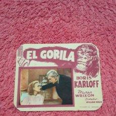 Cine: EL GORILA 2 KARLOFF FOLLETO ORIGINAL. Lote 178056707