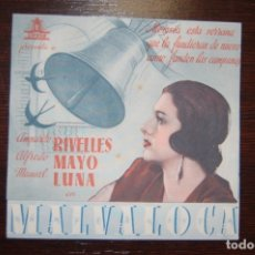 Cine: MALVALOCA, - IDEAL CINEMA, (ELDA) AÑO 1942. Lote 178060093