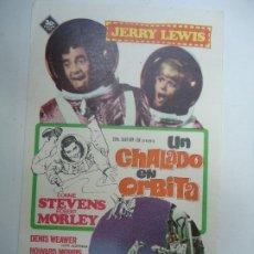 Cine: UN CHALADO EN ORBITA 1966 PUBLICIDAD SELLO SECO CINE ORIENTE JERRY LEWIS, CONNIE STEVENS, ROBERT MOR. Lote 178115888