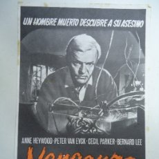 Cine: VENGANZA 1962 ANNE HEYWOOD, PETER VAN EYCK, CECIL PARKER PROGRAMA SENCILLO PIE GRAFICA BOBES BARCEL. Lote 178121450