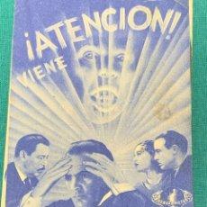 Folhetos de mão de filmes antigos de cinema: PROGRAMA DE MANO CINE EL LOBO HUMANO. Lote 178126783