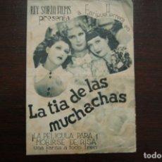 Cine: LA TIA DE LAS MUCHACHAS, IDEAL CINEMA (ELDA). AÑO 1941. Lote 178131429