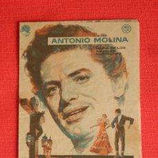 Cine: EL CRISTO DE LOS FAROLES, DOBLE CANCIONERO, ANTONIO MOLINA, C/PUBLICIDAD 1958. Lote 178132237