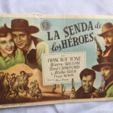 Cine: LA SENDA DE LOS HÉROES TEATRO MODERNO CANTABRIA. Lote 178151225