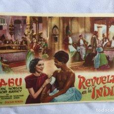 Cine: REVUELTA EN LA INDIA TEATRO PRINCIPAL INCA. Lote 178151952