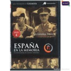 Cine: DVD Nº 4 ESPAÑA EN LA MEMORIA - EL GENERAL FRANCO. NUEVO**. Lote 178153672