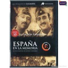 Flyers Publicitaires de films Anciens: DVD Nº 10 ESPAÑA EN LA MEMORIA - LA LEGIÓN ESPAÑOLA. NUEVO**. Lote 178154522
