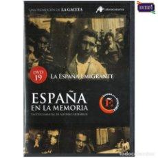Cine: DVD Nº 19 ESPAÑA EN LA MEMORIA - LA ESPAÑA EMIGRANTE. NUEVO**. Lote 178155319