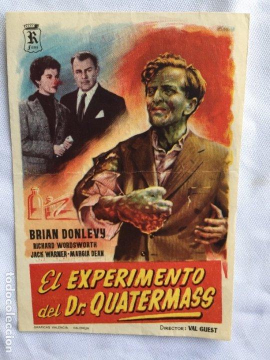 EL EXPERIMENTO DEL DR. QUATERMASS CINE REX ZARAGOZA (Cine - Folletos de Mano - Suspense)