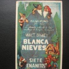 Cine: BLANCA NIEVE Y LOS SIETE ENANITOS, DISNEY. Lote 178165316