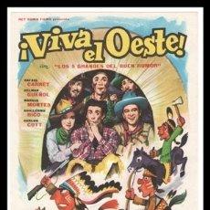 Cine: FOLLETO DE MANO, VIVA EL OESTE, RAFAEL CARRET, ZELMAR GUEÑOL, MARUJA MONTES Y DEMAS.. Lote 178309965