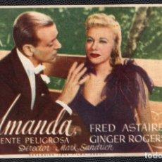 Cine: AMANDA (CAREFREE) FOLLETO DE MANO (13,5 CM. X 8,7 CM) -ORIGINAL- PUBLICIDAD EN REVERSO. Lote 178325910