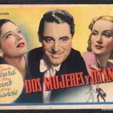 Cine: DIS MUJERES Y UN AMOR - FOLLETO DE MANO (13,2 CM. X 8,5 CM) -ORIGINAL 1945 - PUBLICIDAD EN REVERSO. Lote 178326803