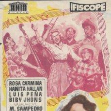 Foglietti di film di film antichi di cinema: PROGRAMA DE CINE - QUIÉREME CON MÚSICA - ROSA CARMINA, HANITA HALLAN - CINE GOYA (MÁLAGA) - 1957.. Lote 178332757