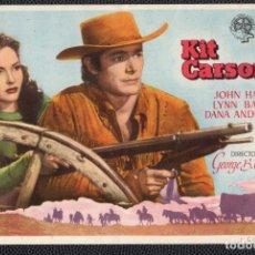 Cine: KIT CARSON - FOLLETO DE MANO (13,6 CM. X 8,9 CM) -ORIGINAL 1947- PUBLICIDAD EN REVERSO. Lote 178334715