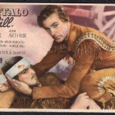 Cine: BUFFALO BILL - FOLLETO DE MANO (13,5 CM. X 8,8 CM) -ORIGINAL 1947- PUBLICIDAD EN REVERSO. Lote 178337753