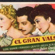 Cine: EL GRAN VALS - FOLLETO DE MANO (12,9 CM. X 8,7 CM) -ORIGINAL 1946- PUBLICIDAD EN REVERSO. Lote 178346991