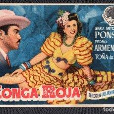 Cine: KONGA ROJA - FOLLETO DE MANO (13,6 CM. X 8,3 CM) -ORIGINAL 1950- PUBLICIDAD EN REVERSO. Lote 178349657