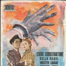 Cine: PROGRAMA DE CINE - MANOS ASESINAS - EDDIE CONSTANTINE, BELLA DARVI - CINE ECHEGARAY (MÁLAGA) - 1958.. Lote 178438586