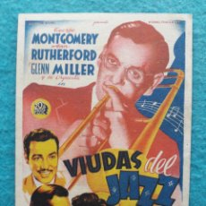 Cine: VIUDAS DEL JAZZ. GEORGE MONTGOMERY, ANN RUTHERFORD, GLENN MILLER Y SU ORQUESTA.. Lote 178443522