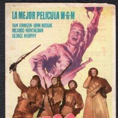 Cine: FUEGO EN LA NIEVE - FOLLETO DE MANO (8,7 CM. X 13,5 CM) -ORIGINAL 1950 - PUBLICIDAD EN REVERSO. Lote 178626437