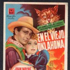 Cine: EN EL VIEJO OKLAHOMA - FOLLETO DE MANO (8,6 CM. X 12,8 CM) -ORIGINAL 1946- PUBLICIDAD EN REVERSO. Lote 178626611