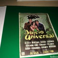 Cine: PROGRAMA DE CINE SIMPLE GRANDE. JUICIO UNIVERSAL. Lote 178636652