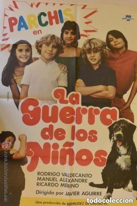 CARTEL CINE LA GUERRA DE LOS NIÑOS PARCHIS (Cine - Folletos de Mano - Infantil)