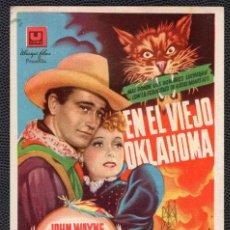 Cine: EN EL VIEJO OKLAHOMA - FOLLETO DE MANO (8,6 CM. X 12,7 CM) -ORIGINAL 1946 - PUBLICIDAD EN REVERSO. Lote 178676522