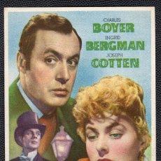 Cine: LUZ DE AGONIZA - FOLLETO DE MANO (8,7 CM. X 13,3 CM) -ORIGINAL 1947 - PUBLICIDAD EN REVERSO. Lote 178677380