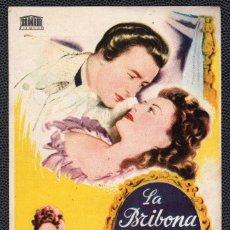 Cine: LA BRIBONA - FOLLETO DE MANO (8,7 CM. X 13,3 CM) -ORIGINAL 1949 - PUBLICIDAD EN REVERSO. Lote 178682883