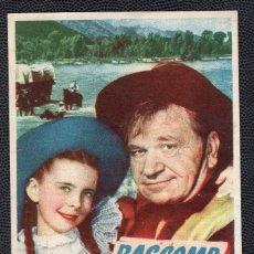 Cine: BASCOMB EL ZURDO - FOLLETO DE MANO (8,6 CM. X 13,4 CM) -ORIGINAL 1948 - PUBLICIDAD EN REVERSO. Lote 178688015