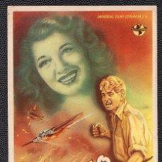 Cine: EL FALSARIO - FOLLETO DE MANO (9 CM. X 13,6 CM) -ORIGINAL 1946 - PUBLICIDAD EN REVERSO. Lote 178689193
