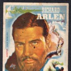 Cine: MOTIN EN EL ARTICO - FOLLETO DE MANO (9,2 CM. X 13 CM) - ORIGINAL 1945 -PUBLICIDAD EN REVERSO. Lote 178720228