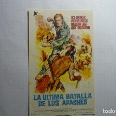 Cine: PROGRAMA LA ULTIMA BATALLA DE LOS APACHES.- LEX BARKER PUBLICIDAD. Lote 178760676