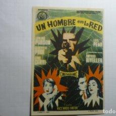 Cine: PROGRAMA UN HOMBRE EN LA RED.- EDMUND PURDOM PUBLICIDAD. Lote 178761095