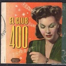 Cine: EL CLUB 400 -PROGRAMA DOBLE - ORIGINAL -PUBLICIDAD EN REVERSO- 3 IMÁGENES. Lote 178798661