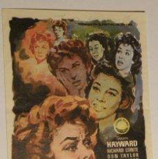 Cine: PROGRAMA DE CINE MAÑANA LLORARE SUSAN HAYWARD RICHARD CONTE. Lote 178799203